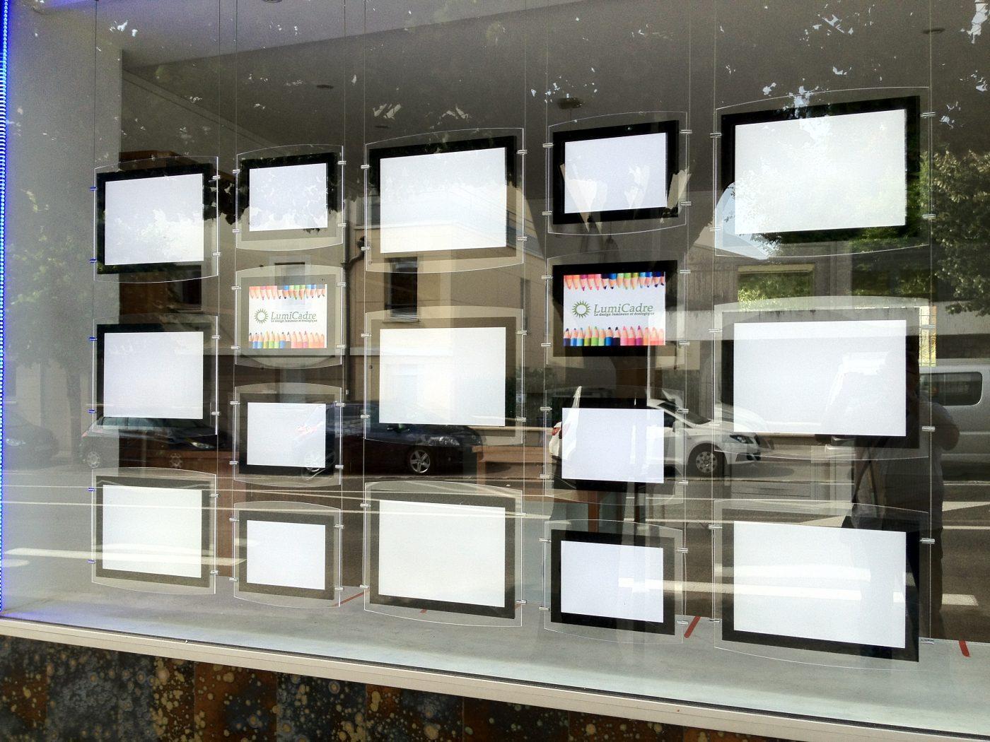 Porte affiche lumineux a4 et a3 porte affiche led - Porter plainte contre agence immobiliere ...